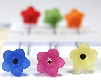 Flower Sewing Pins - Set of 6 medium long pins