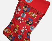 PERSONALIZED Paw Patrol Christmas Stocking, Disney Paw Patrol Stocking,Quilted Stocking,Paw Partol
