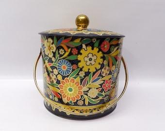 Extra large ornate textured storage tin