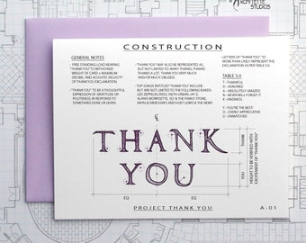 Project Thank You  - Blank Architecture Construction Card