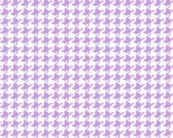 Lilac Purple Houndstooth Mini Print Fabric By The Yard - Cotton