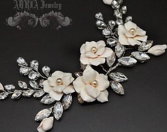 Crystal Wedding Headpieces, Gold Bridal Hair Combs, Romantic Wedding Hair Accessories, Rustic Bridal Hair Pieces, Bridal Hair Vine