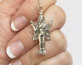 Innana Goddess Necklace - Solid 925 Sterling Silver Pendant - Free Domestic Shipping