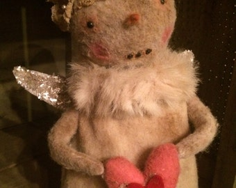 Primitive Snowkin Angel Doll