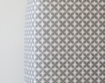 Gray Fitted Crib Sheet in Trellis - Ready to Ship