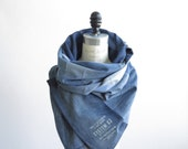 colorblock denim scarf