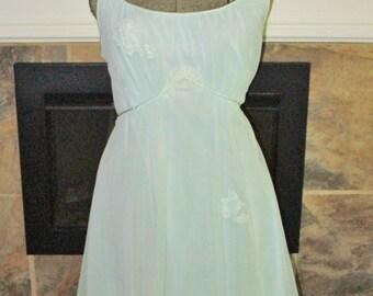 1940 Vintage Nylon Chiffon Nightgown sz 34 Gossard Artemis vintage lingerie