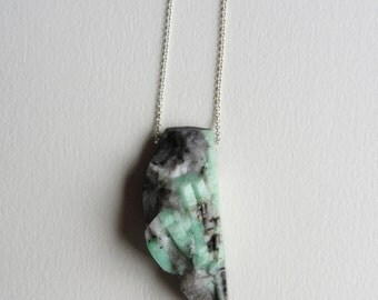 Quartz with Black and Green Gemstone Inclusions - Made in Seattle