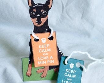 Keep Calm Min Pin - Desk Decor Paper Doll