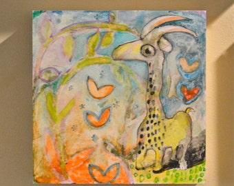 OOAK Creature Painting on Aquabord