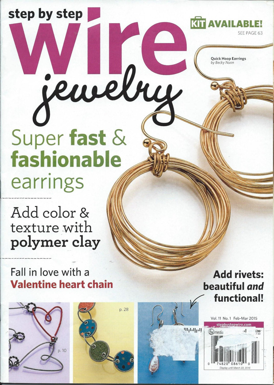 step by step wire jewelry magazine february march 2015 issue