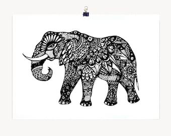 Elephant - A3 Archival Fine Art Print