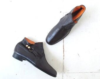 Vintage 1960s Boots | Beatle Boots | Men's Ankle Boots | Mod Boots | Size 9 1/2