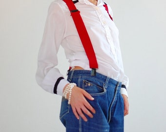 Crisp White Shirt Vintage 80s White Color Block Crisp Structured Menswear Androgynous Indie Blouse (s m)