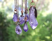 Amethyst Necklace Amethyst Pendant Raw Amethyst Necklace Amethyst Crystal Necklace Raw Crystal Necklace Bohemian Jewelry Gemstone Jewelry