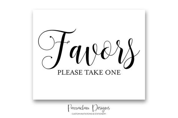 Wedding Favor Sign | Favor Wedding Sign | INSTANT DOWNLOAD | Gold Wedding Signs | Guest Book Sign | Black | Gold | PS01