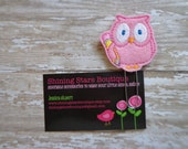 Fun Planner Clips - Pink Owl With A Yellow Pencil Paper Clip Or Bookmark - Bookmark Accessory For Teachers Or Students For Back To School