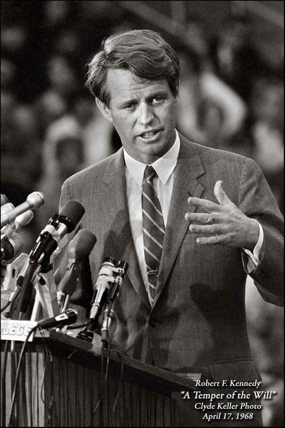 Robert F. Kennedy, A Temper of the Will, Clyde Keller photo, Fine Art Print, Black and White, Signed