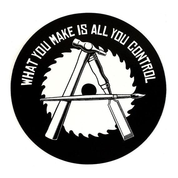 Anarcho-Crafter Round Vinyl Sticker