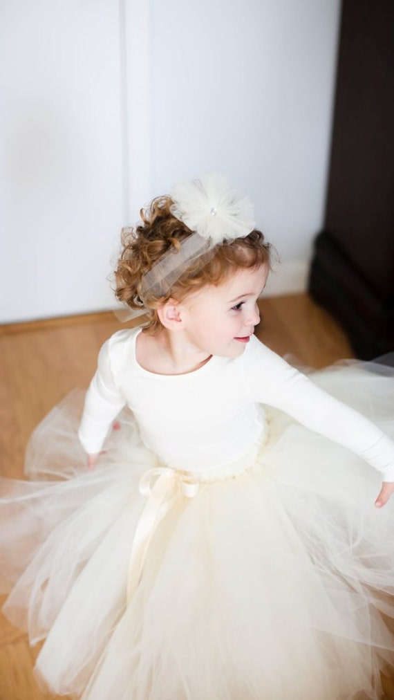 Long Sleeve Leotard - Many colors and sizes - Toddler and Child sizes - Flower girl, Dance, Costume, Wedding - Ivory, Grey, White, Pink