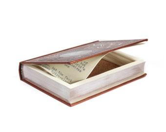 Nikola Tesla Handmade Hollow Book Box Booksafe Secret Stash Gift Box Brother Groomsmen Best Man Wedding Gift Idea Premium - READY TO SHIP