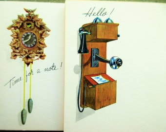 Vintage Postcards, Post a Note, Current Post Cards, Retro Stationery, Cuckoo Clock Postcard, What's Cookin', Old Fashioned Telephone