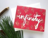 Infinity Valentine's Day Card - Ready to Ship - Infinity Love Card - Red Love Card - Watercolor Valentine Card - Masculine Valentine Card