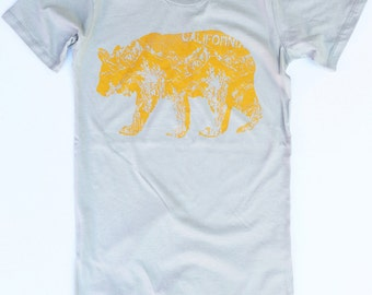 SALE! Womens Cal BEAR - Alternative Apparel Basic Crew Tee S M L XL