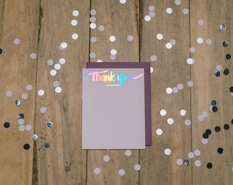 Rainbow Foil Thank You Cards - 10pk