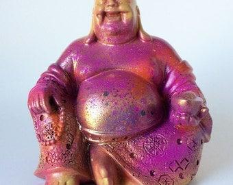 Buddha, Laughing Buddha Statue, Zen Figurine, Asian Art, Meditation, Smiling Buddha, Thai Statue