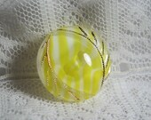 Vintage Candy Stripe Moonglow Button