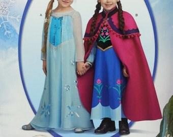 Disney Frozen Anna and Elsa Childs Costume Pattern Misses Size 3 4 5 6 7 8