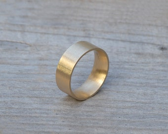comfort fit wedding band, 4mm, 6mm or 8mm wide wedding ring, yellow gold handmade wedding ring, man's wedding band