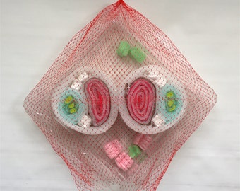 Plastishimi Netted Duo, Upcycled Plastic and Foam Sushi Sculpture
