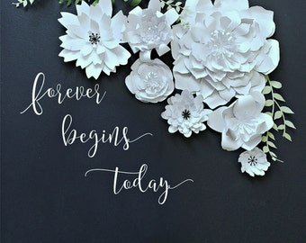 Paper Flower Backdrop. Wedding Photo Booth. Baby SPhoto Booth - PRE-ASSEMBLED Flowers. Wedding Photo Backdrop. Baby Shower Decore