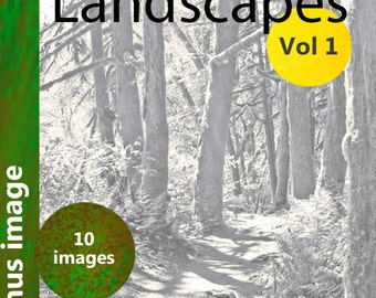 Coloring Book: Landscapes, Vol 1  Forest, landscape, river and scenic gray scale coloring pages