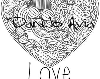 Coloring page - Love Conquers All, response to Orlando shooting and a daily reminder. FREE WITH PURCHASE