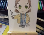 Original drawing ACEO Chibi Sam Winchester