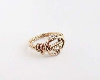 Love Knot Promise Ring X2  Gold-fill