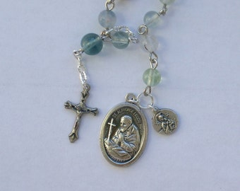 Saint Alphonsus Liguori Single Decade Rosary or Rosary Bracelet