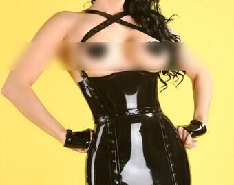 Latex Little Black Dress in Black