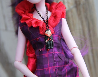 Dracula Vampire Gothic Doll Jewelry Necklace fits Petite Slimline Monster Fairytale Female Fashion Dolls