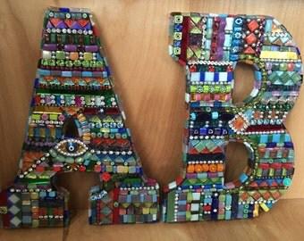 Custom Mosaic Bling letters