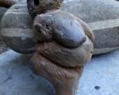 Reserved for Sue C. Artisan made wood fired ceramic Venus - pendant - Goddess - Neolithic