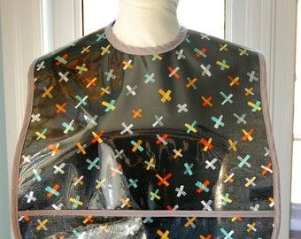 Grey Jacks Extra Large Adult Bib - NEW - vinyl covered extra-large bib with pocket