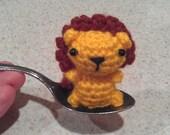 Mini Lion - amigurumi lion - toy lion - crochet lion - cute lion ornament - lion doll - stuffed lion decoration - lion key ring