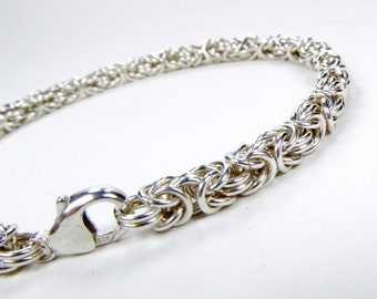 Sterling Silver - Byzantine Bracelet