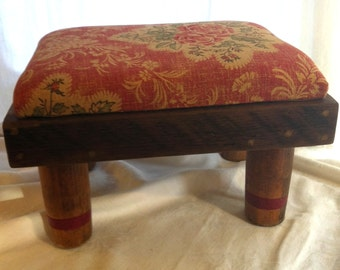 Handmade Reclaimed Vintage Wood Foot Stool by Barneche/Stephanie Barnes
