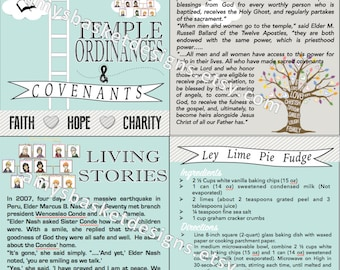 June 2016 LDS Visiting Teaching PRINTABLE Handout - Temple ordinances and covenants