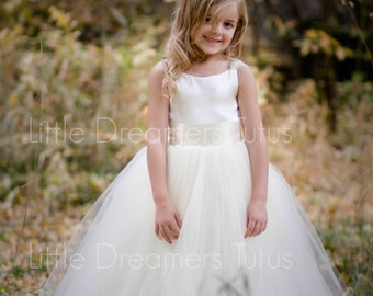 NEW! The Ella Dress in Ivory - Flower Girl Tutu Dress